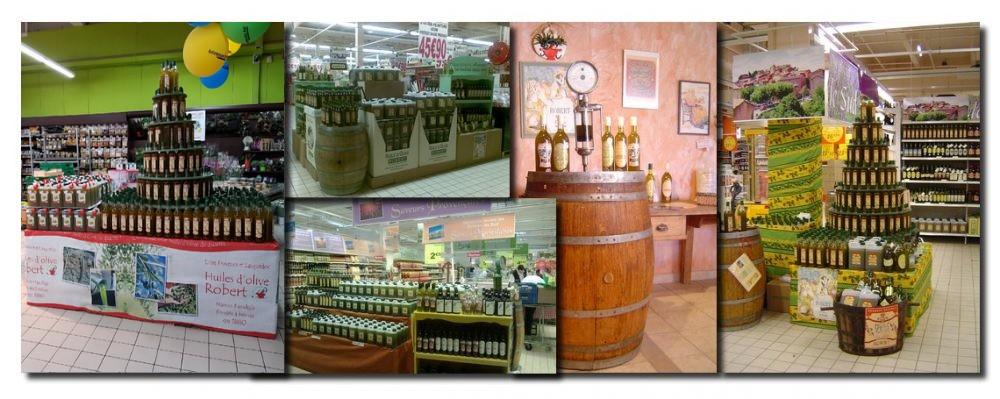 Animation de dégustation /vente d'huiles d'olive non filtrées et biologiques.