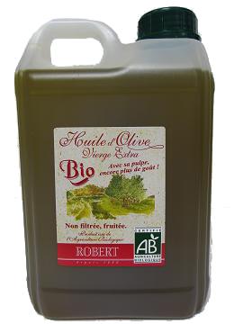Huile d'olive vierge extra « BIO » non filtrée