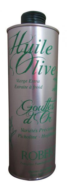 Huile d'olive vierge extra « gouttes d'or » variétés précieuses
