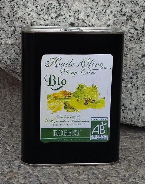 Huile d'olive vierge extra « BIO » filtrée Métal