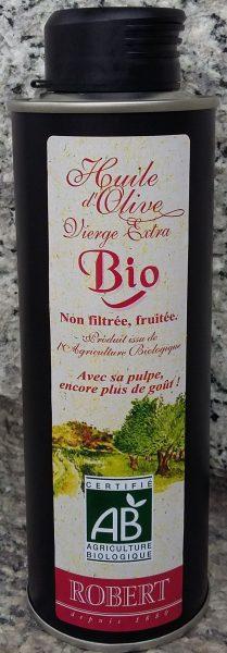 Huile d'olive vierge extra « BIO » non filtrée Métal