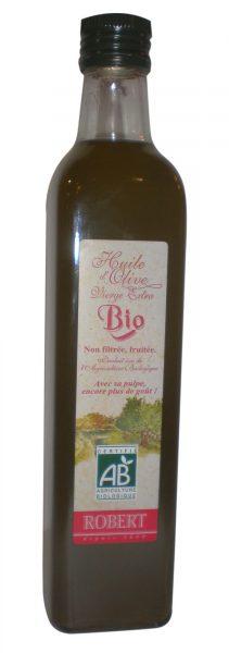 Huile d'olive BIO non filtrée