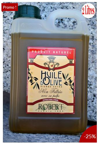 Huile d'olive non filtré