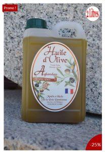 Produit du mois de mars -25% sur l'huile Aglandau