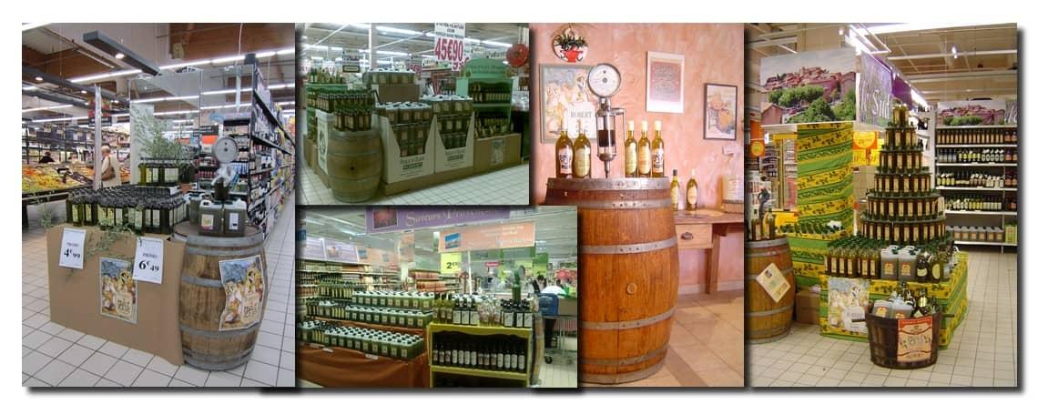 Nos produits en supermarchés